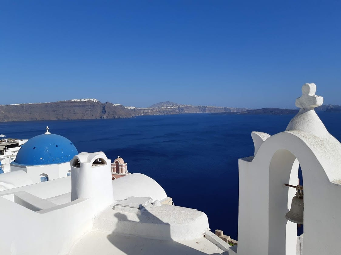 Santorini is a popular destination for greece itinerary planning