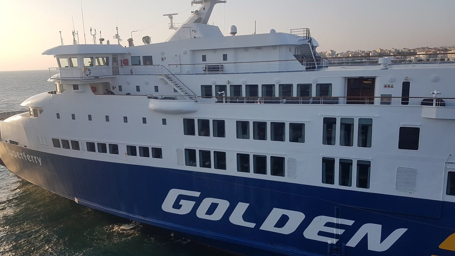 Golden star ferries in Greece