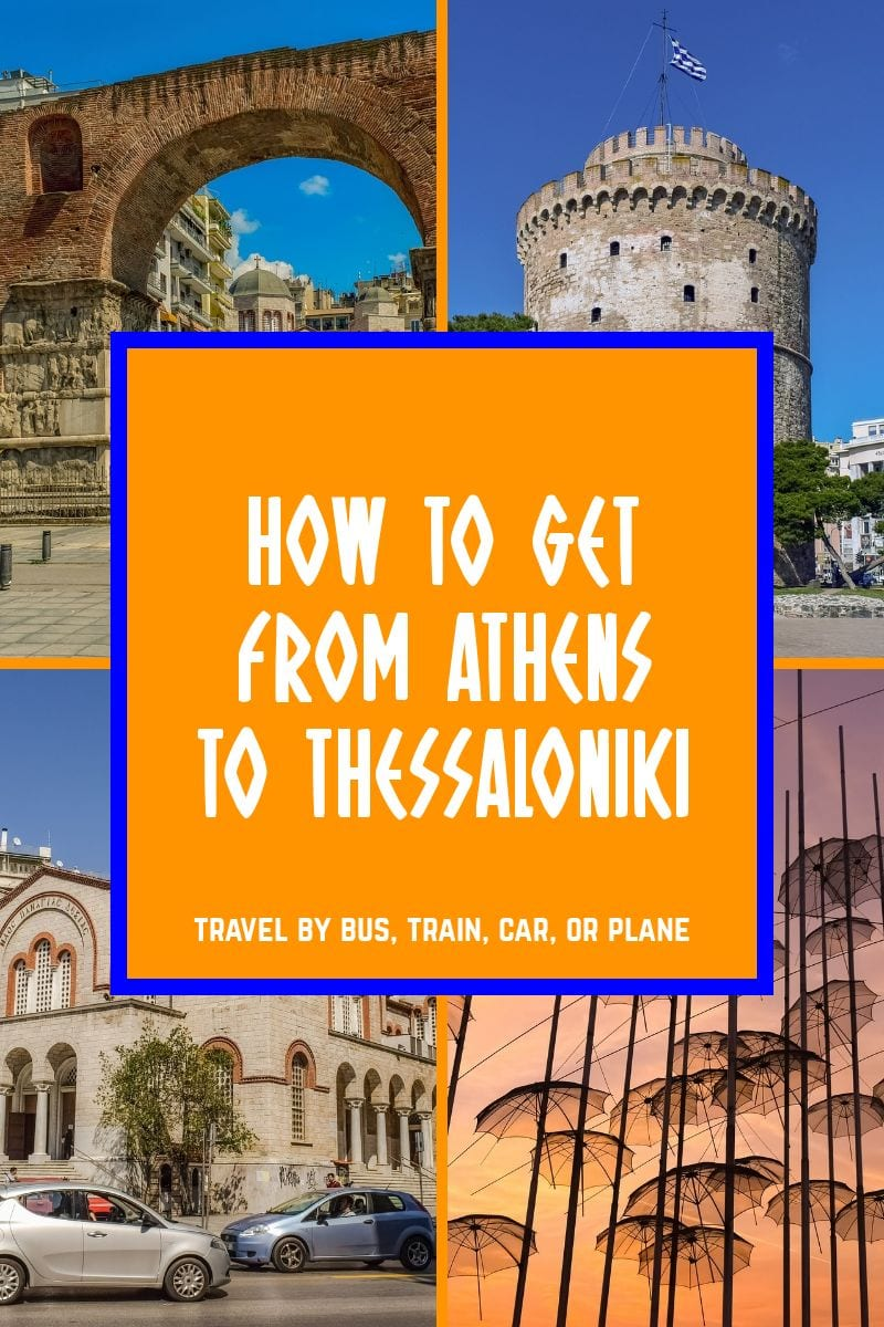 A complete guide on how to get from Athens to Thessaloniki using bus, train, car and planes.