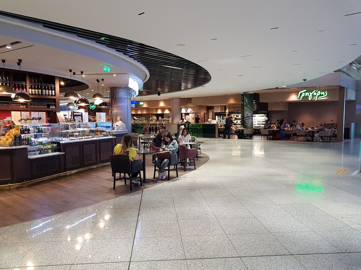 A cafe inside Athens Airport