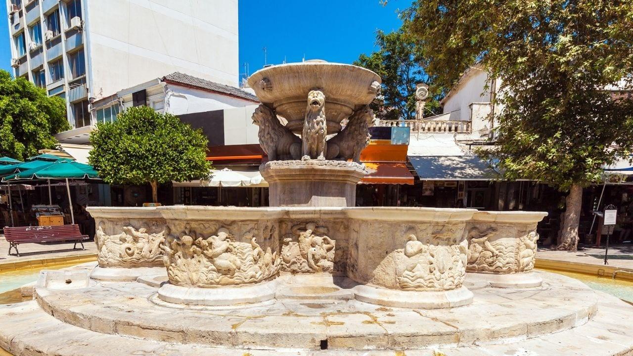 Lion's Square in Heraklion in Crete