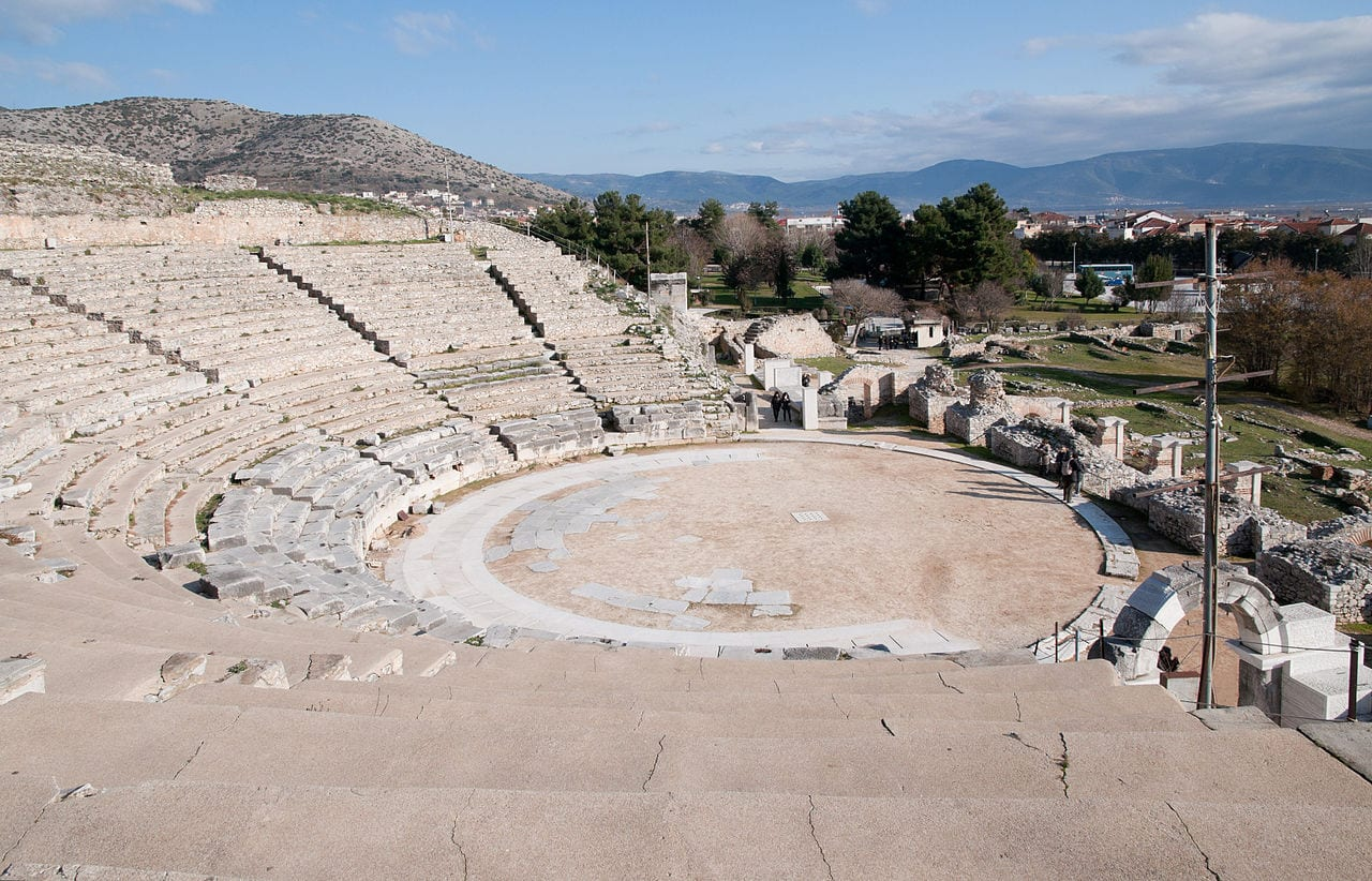 The theatre at the UNESCO site of Phillipi in Greece
