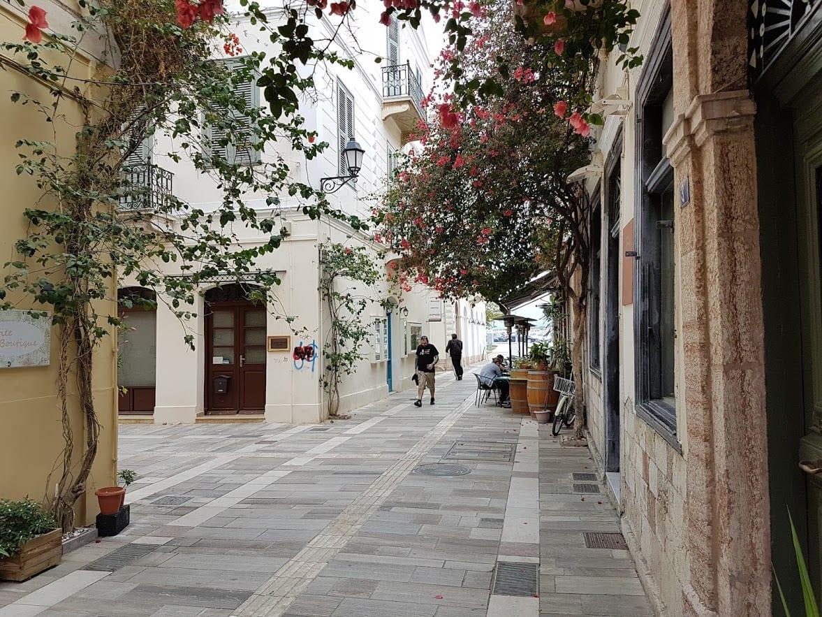 Walking through the streets of Nafplio Greece