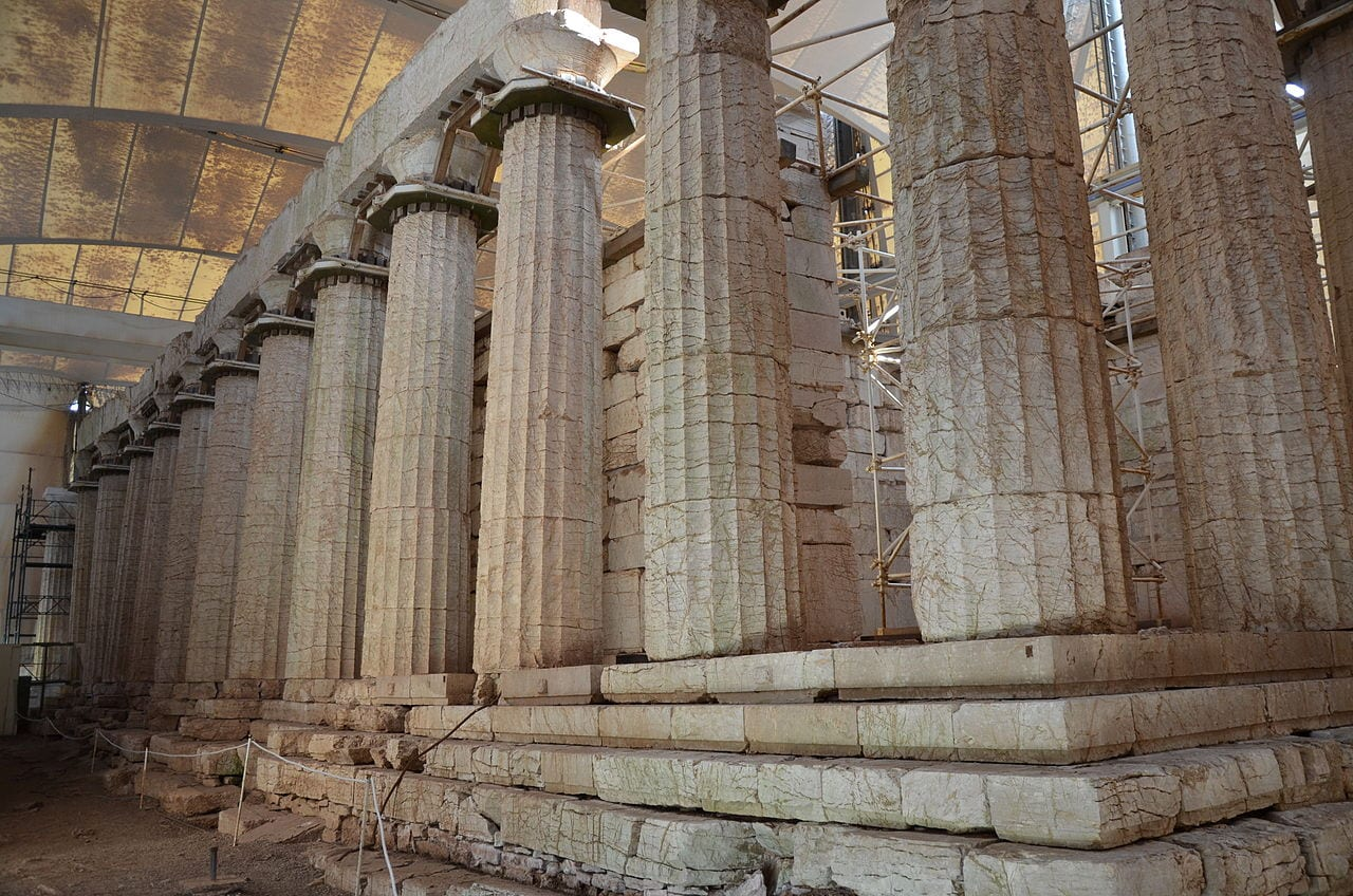 The Temple of Apollo at Bassae in Greece - Unesco World Heritage Site