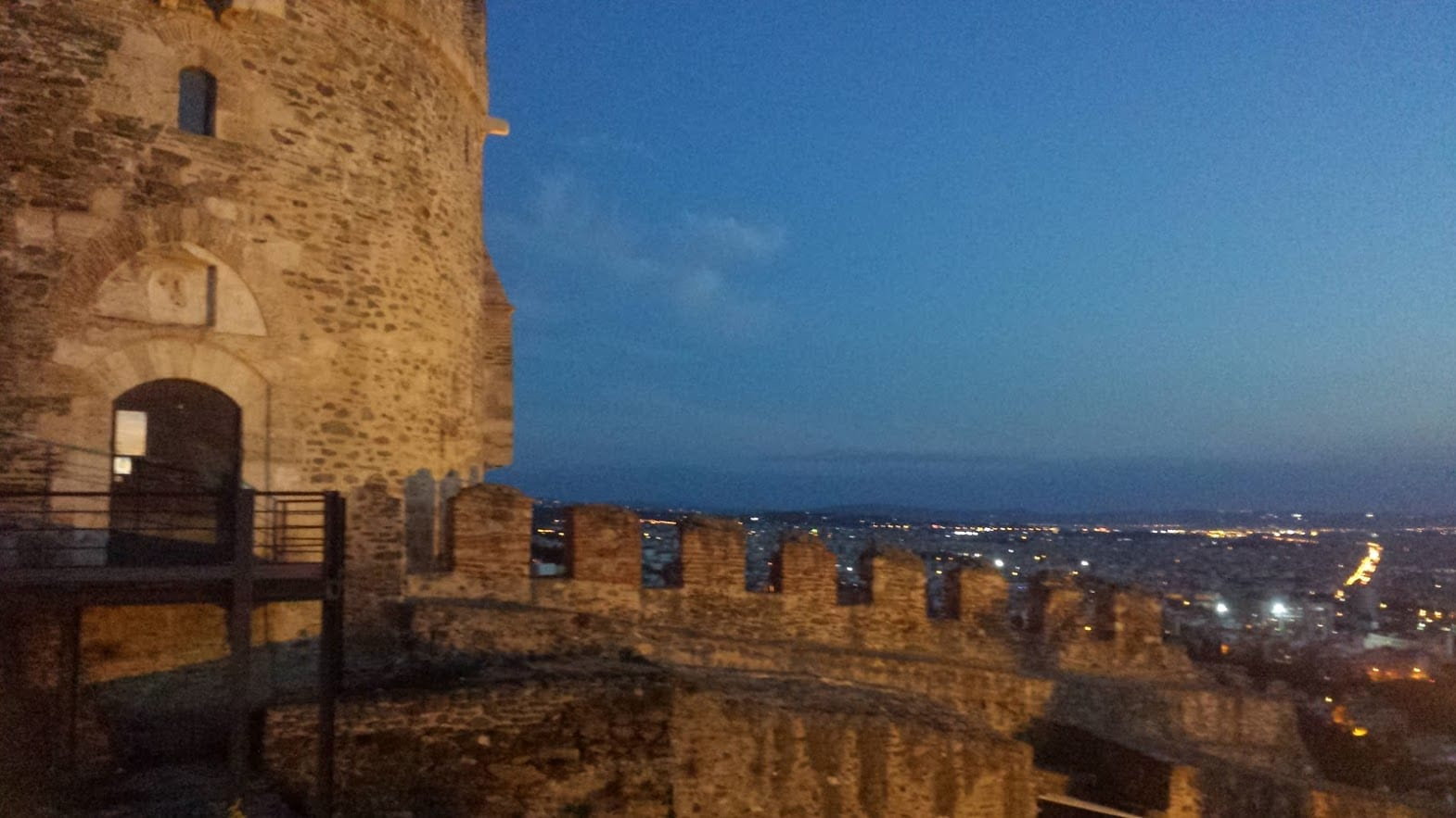A view from the fortifications in Thessaloniki