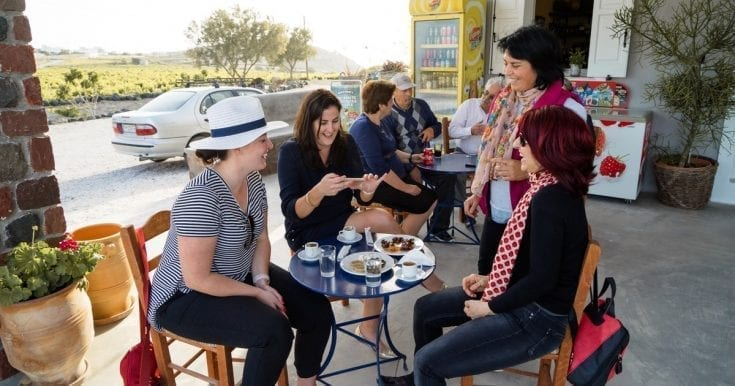 Exclusive Wine and Food Tour in Santorini