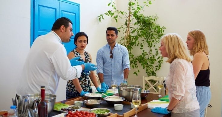 Santorini Cooking Class and Wine-Tasting Tour