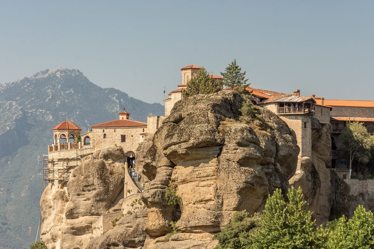 Meteora in Greece is one of 18 UNESCO World Heritage Sites in the country
