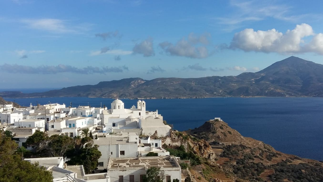 The view of Milos from the top of the Venetian castle