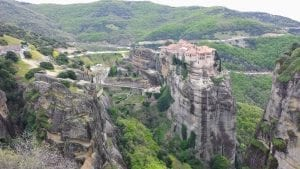 A magnificent monastery seen on a Meteora day trip from Athens