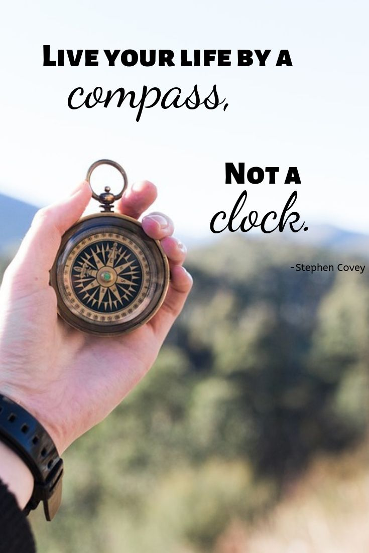Live your life by a compass, not a clock.