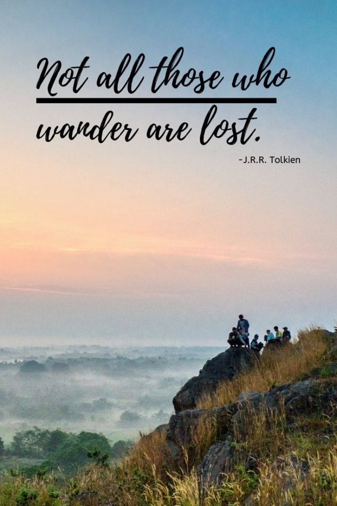 Quote about travel and exploring - Not all those who wander are lost.