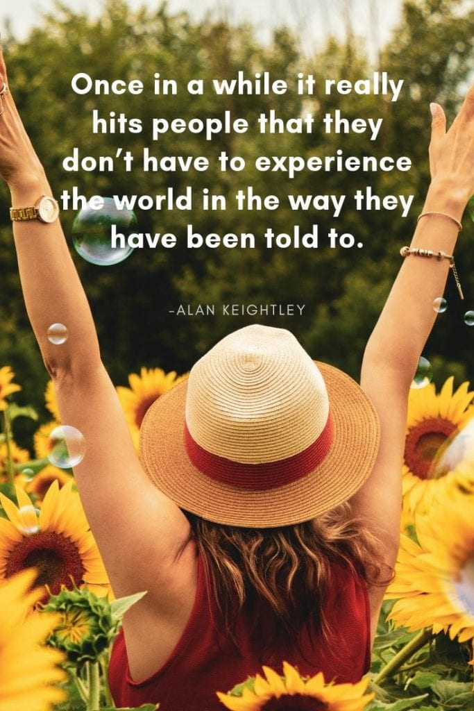 Travel is an experience quote