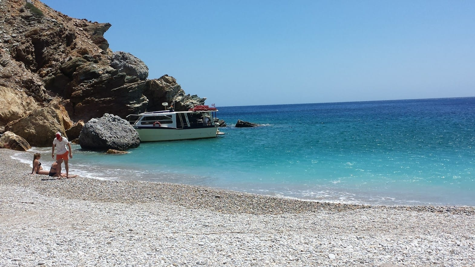 A beautiful beach in Iraklia, Greece