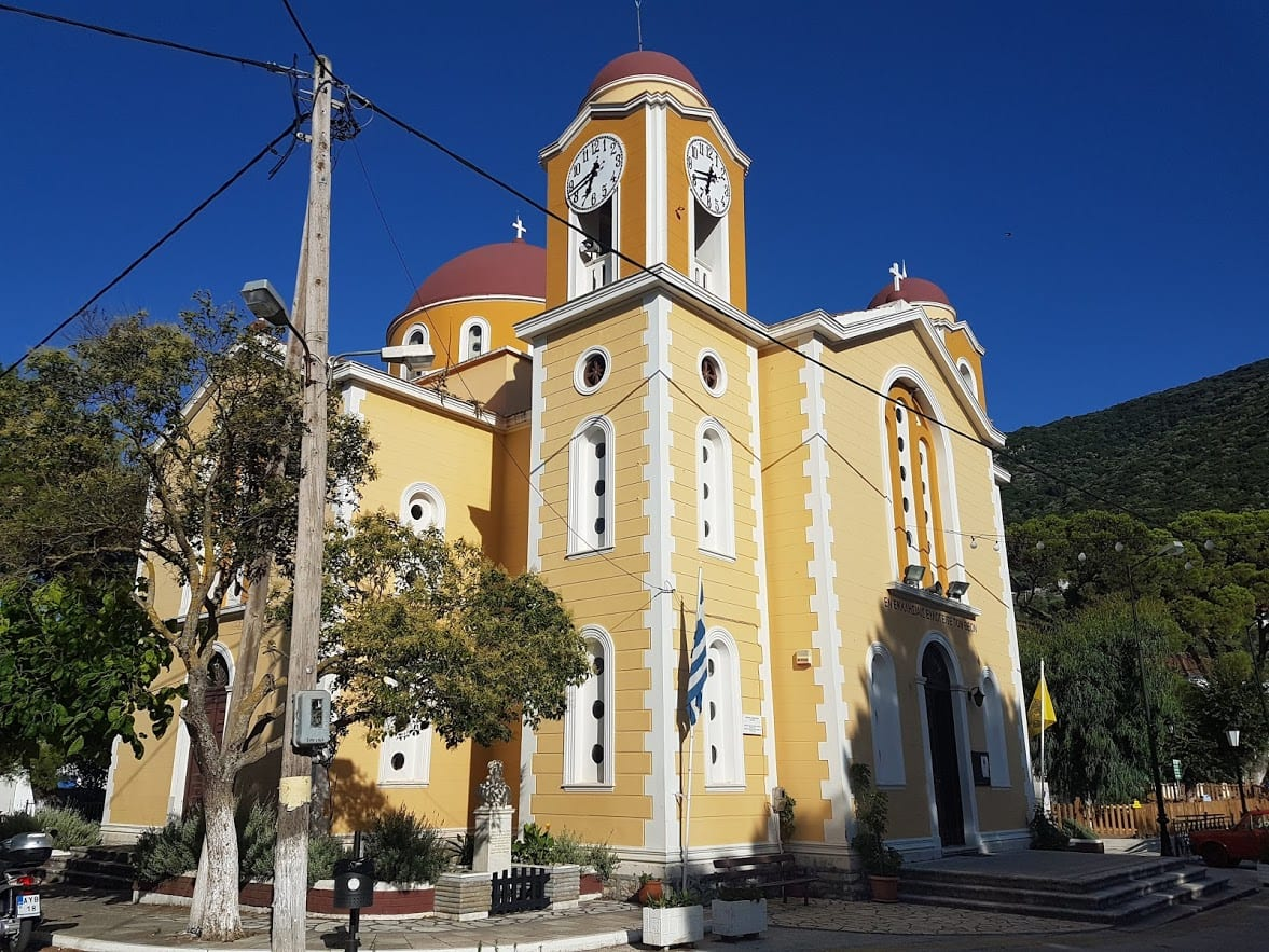 The big church in Stavros village on Ithaca