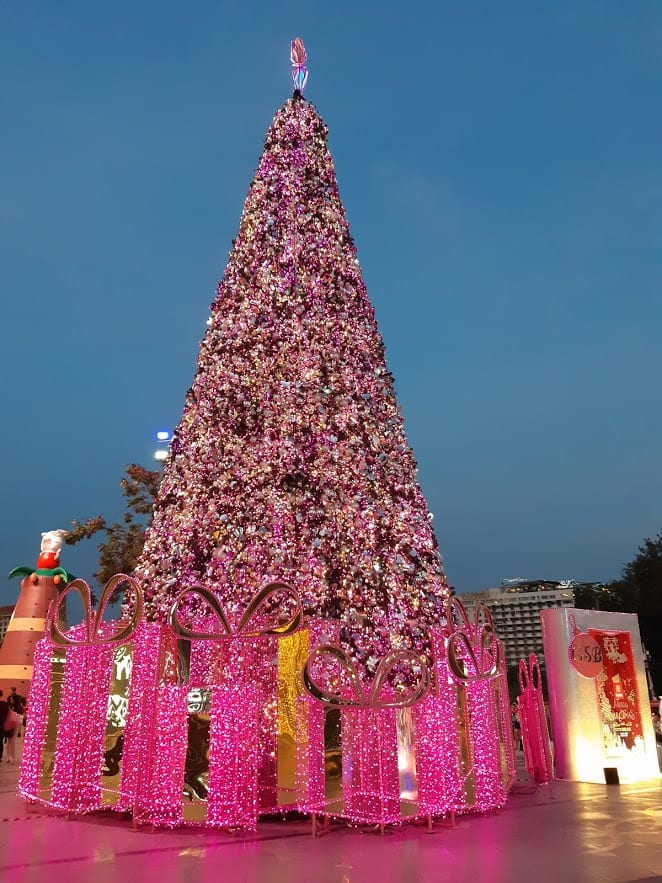 Christmas tree in Chiang Mai Thailand
