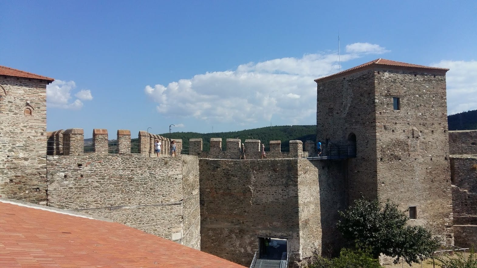 The city walls of Thessaloniki