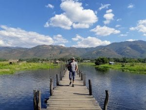 Dave Briggs at Inle Lake in Myanmar