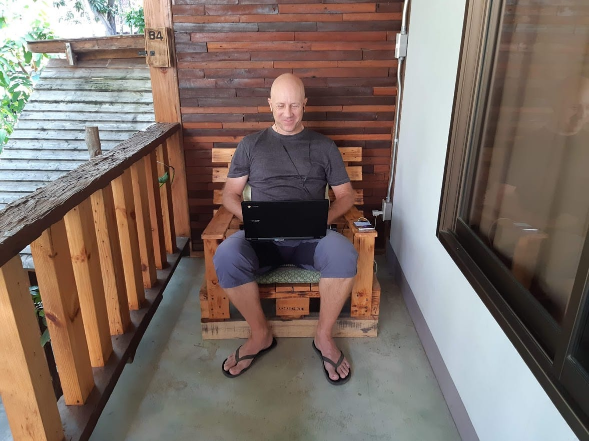 Dave working in Chiang Mai Thailand