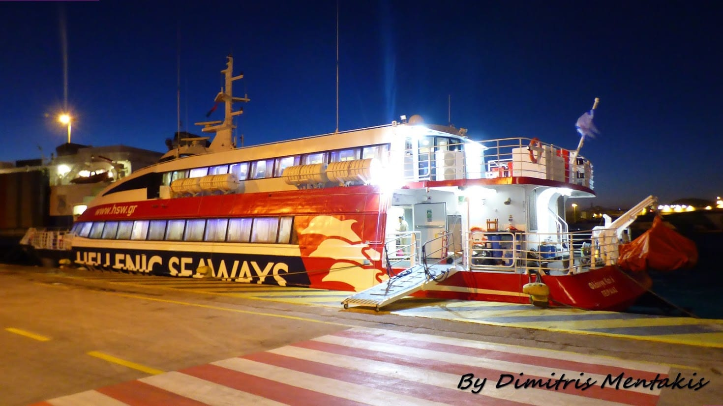 Taking the Flying Cat 6 from Hydra to Athens