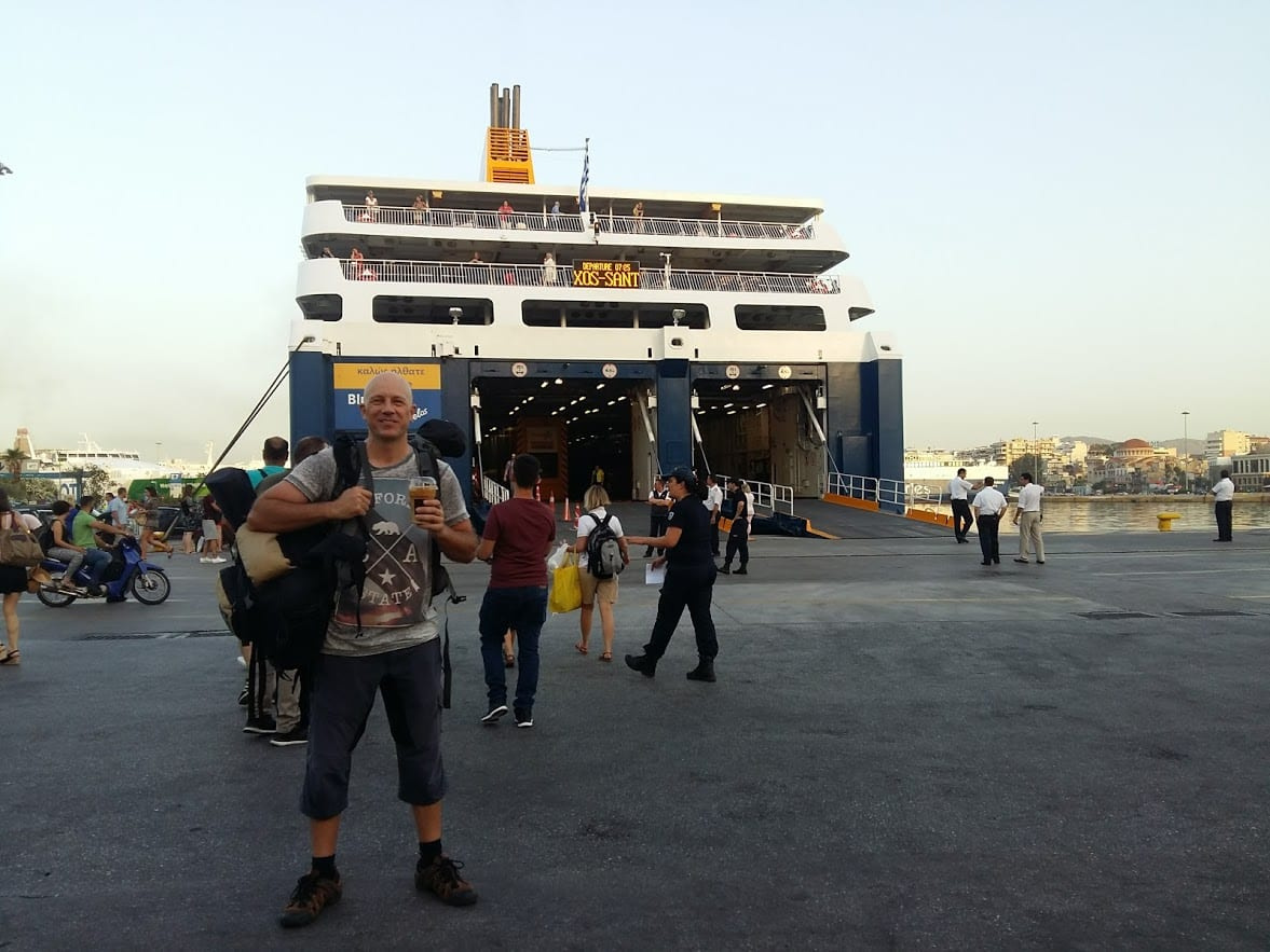 Dave Briggs getting a ferry from Piraeus in Athens