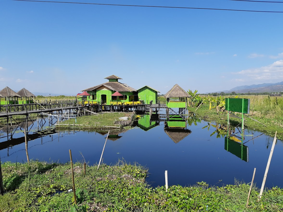 You must check out the unique buildings like this one when in Inle Lake Myanmar