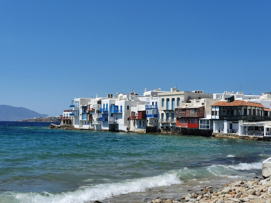 Visiting Little Venice Mykonos in September
