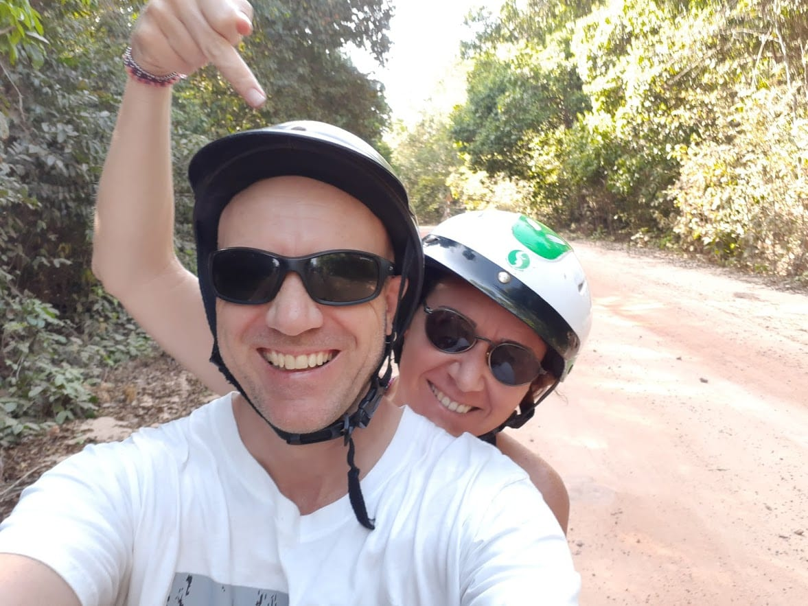 Riding a moped in Phu Quoc
