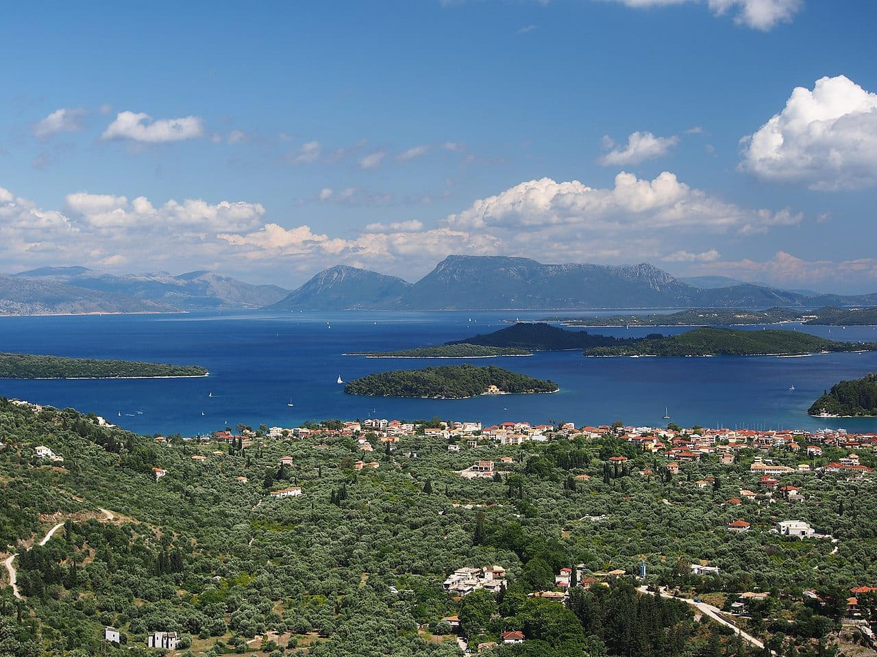 A view over Nydri in Lefkada