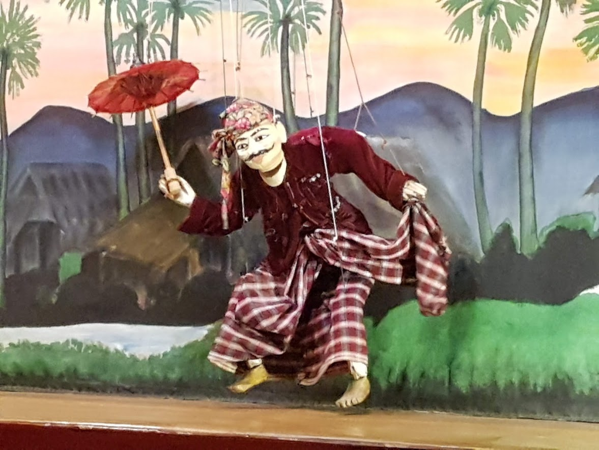 The puppet show at Inle Lake