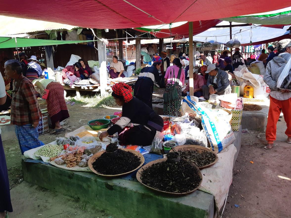 The rotating market at Inle Lake