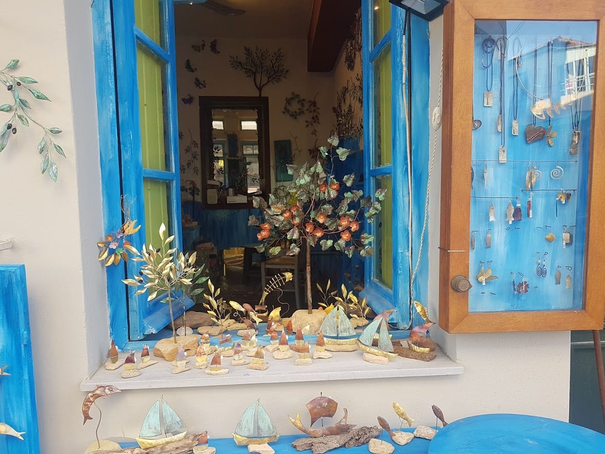 A shop window in Vathy Ithaca