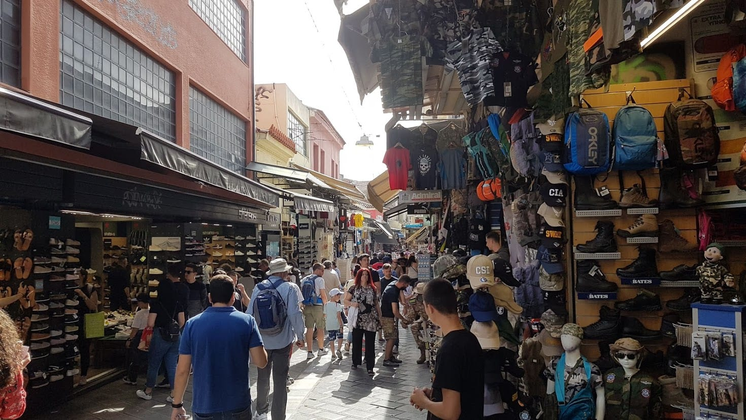 Shopping in Monastiraki flea market