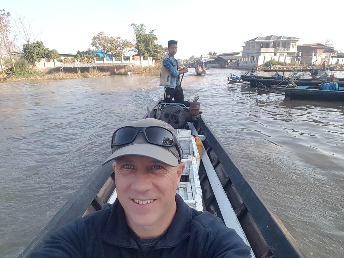 Start of boat trip Inle lake
