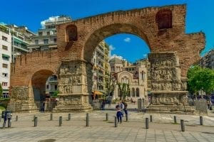 The famous arch of Thessaloniki Greece