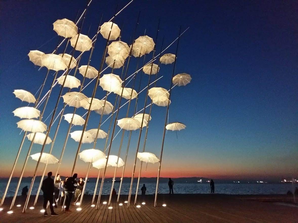 The umbrellas in Thessaloniki are quickly becoming one of the city's must-see attractions