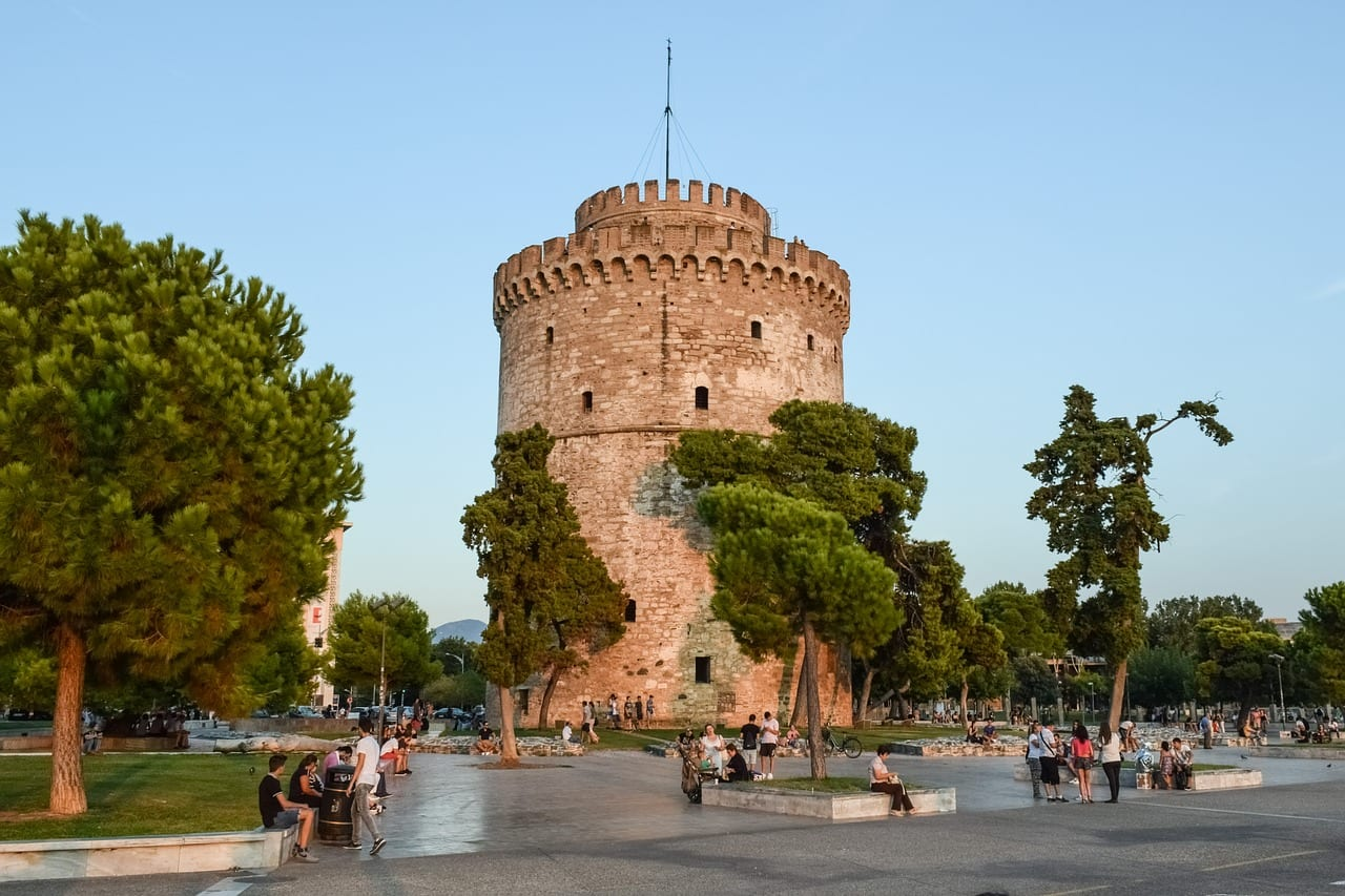 The White Tower of Thessaloniki is one of the main landmarks of the city