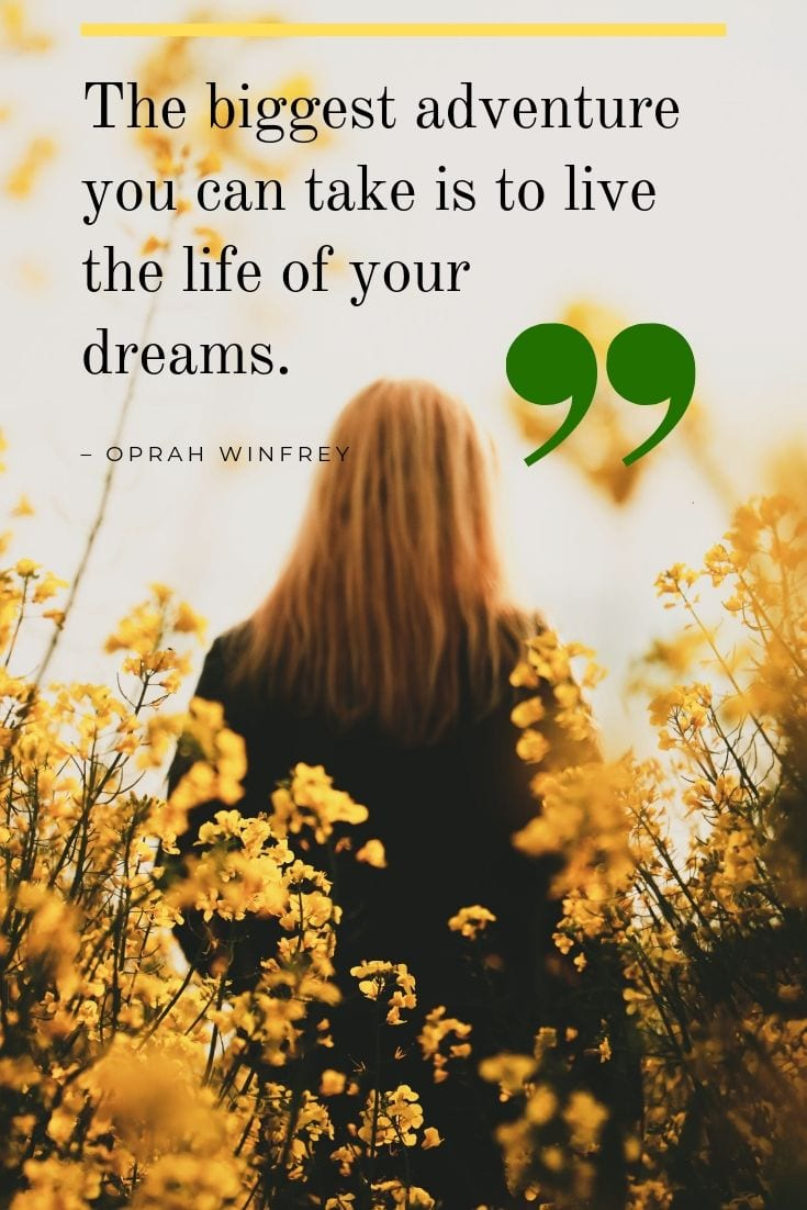 Follow your dreams quote by Oprah Winfrey