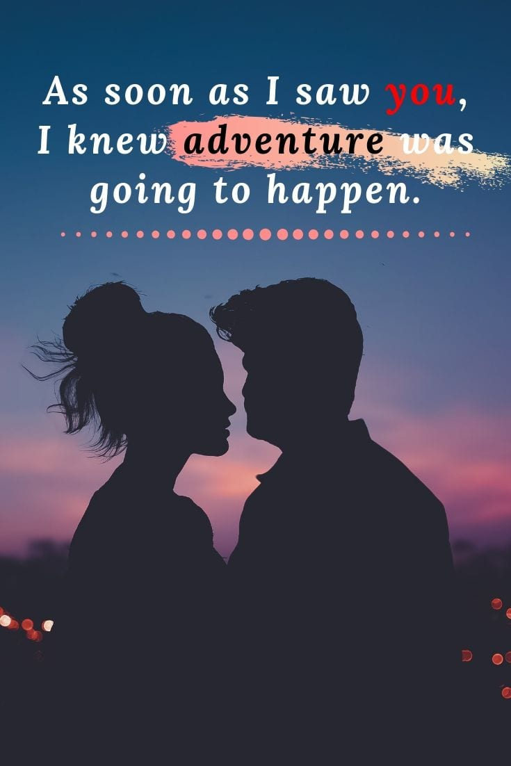 Winnie the Pooh Quote - As soon as I saw you, I knew adventure was going to happen