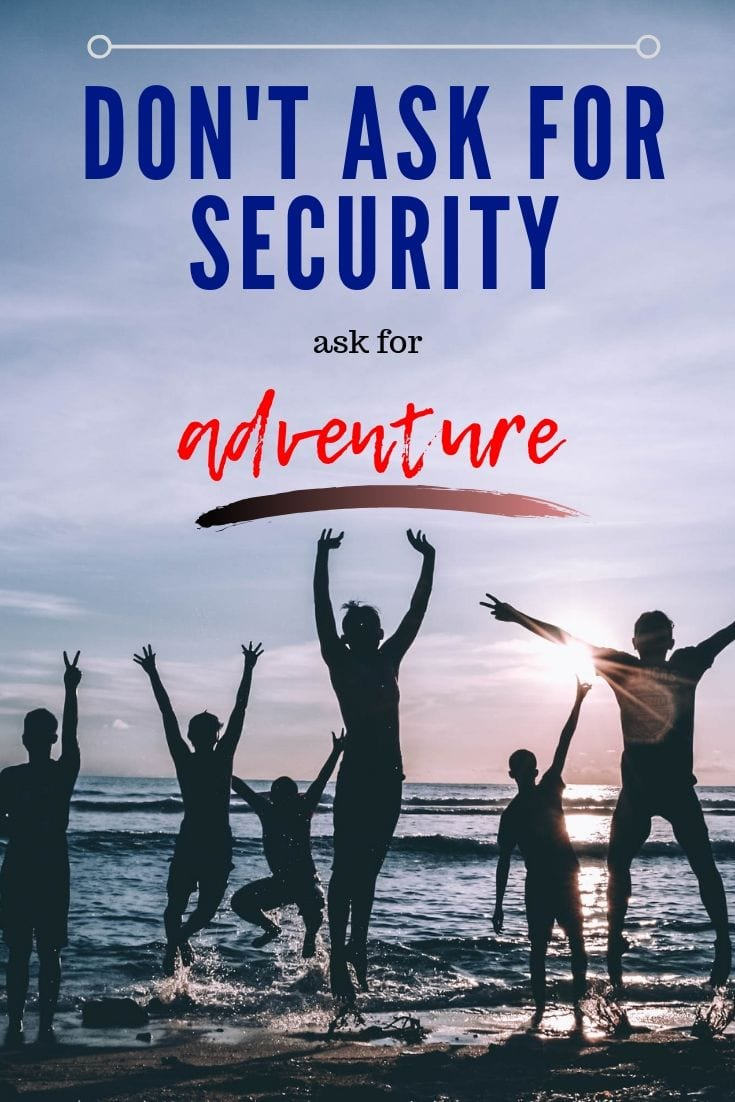 Don't ask for security, ask for adventure. - Jim Rohn