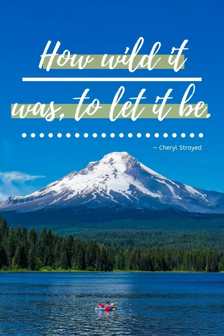 Motivational Travel Quote: How wild it was, to let it be.