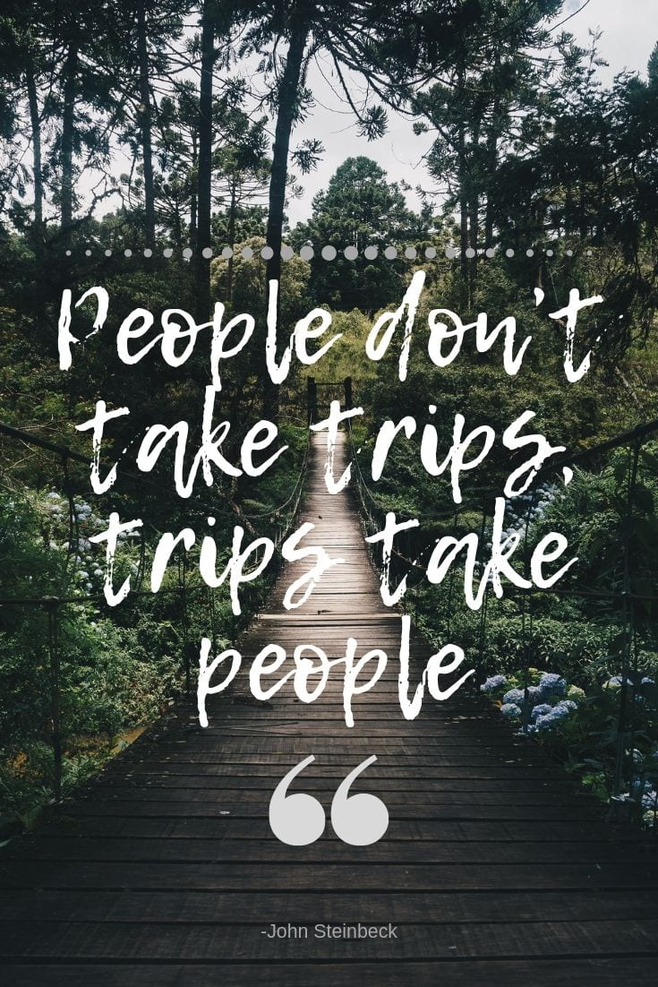 Traveling quote - People don't take trips, trips take people.