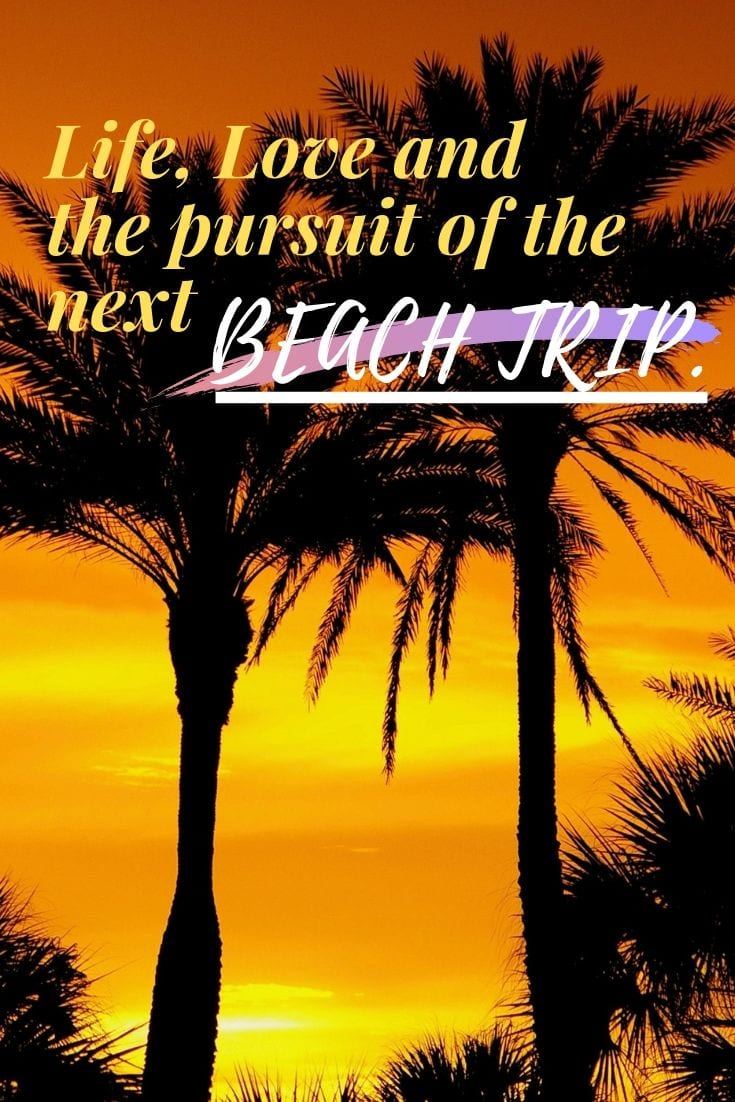 Famous Beach Quotes - Life, Love and the pursuit of the next beach trip.