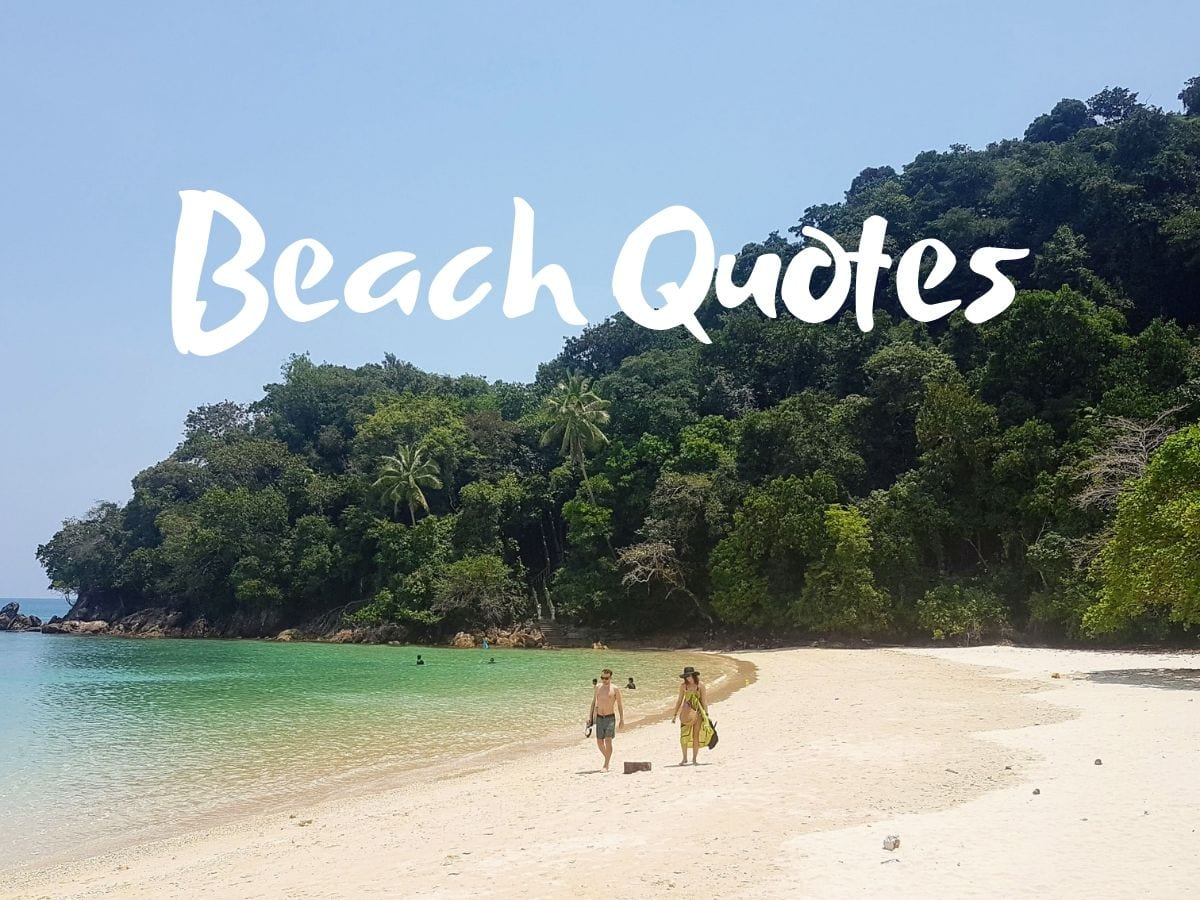 A collection of beach quotes to inspire your travels