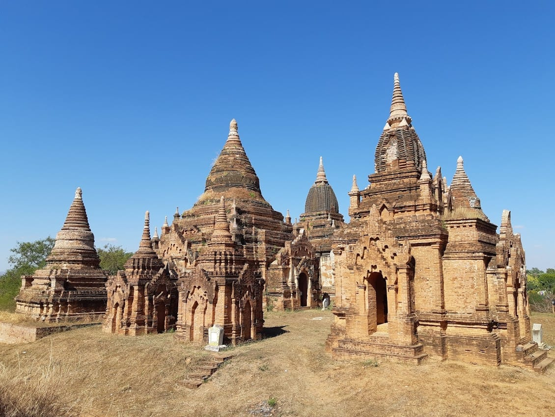 Beautiful stupas in Bagan Myanmar