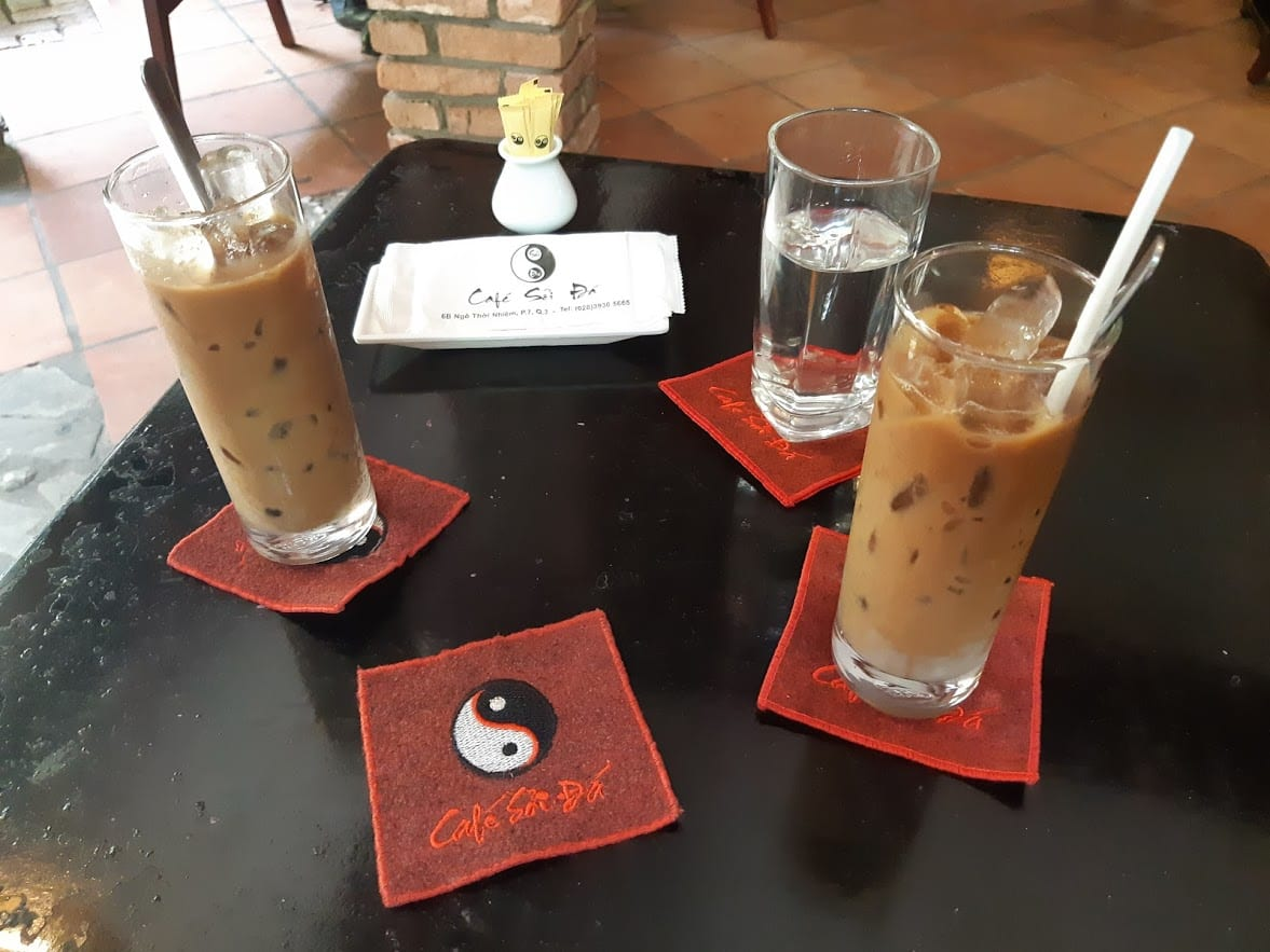 Enjoying the coffee culture in Saigon, Vietnam