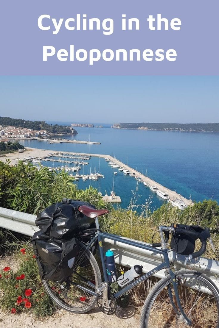 Cycling in the Peloponnese in Greece