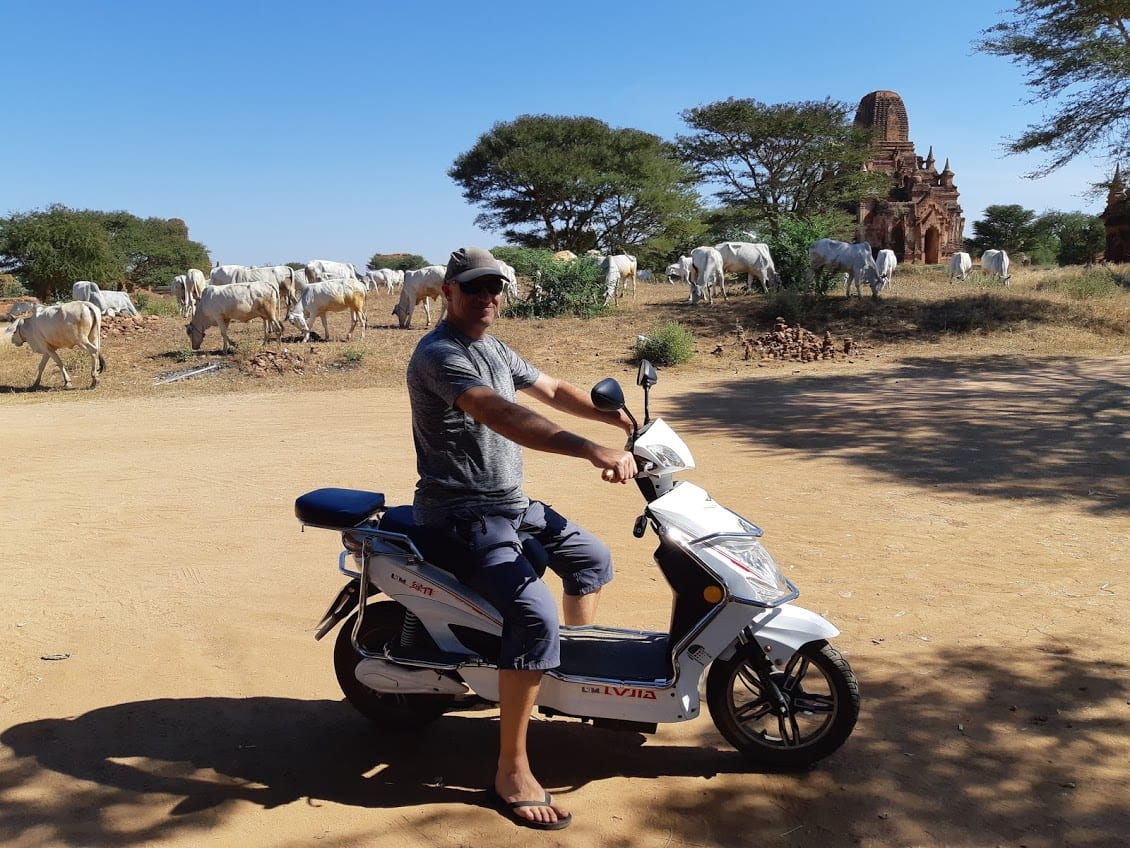 This is what an e-bike at Bagan looks like