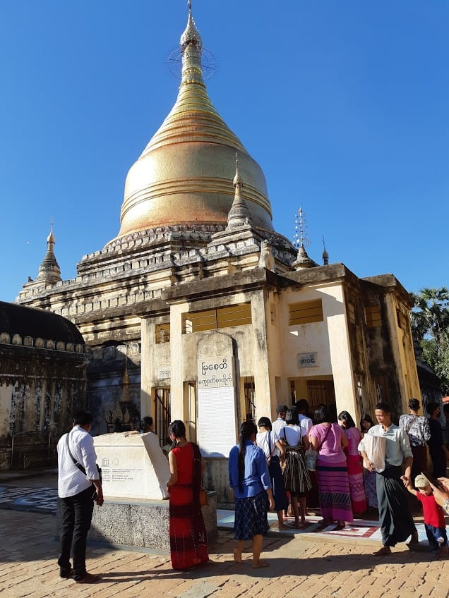 A golden domed stupa in Bagan