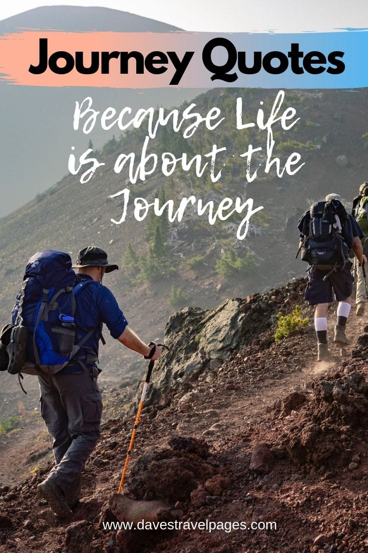 A collection of the best journey quotes about travel and life